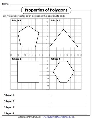 ideas   grade math worksheets polygons
