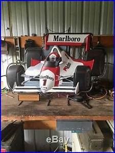 Vintage 1990 Marlboro Mobil Indy F1 Race Car Neon Store