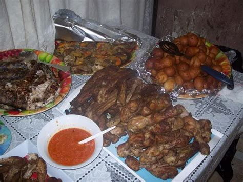 cuisine confo congolese cuisine food consisting of ribs chicken