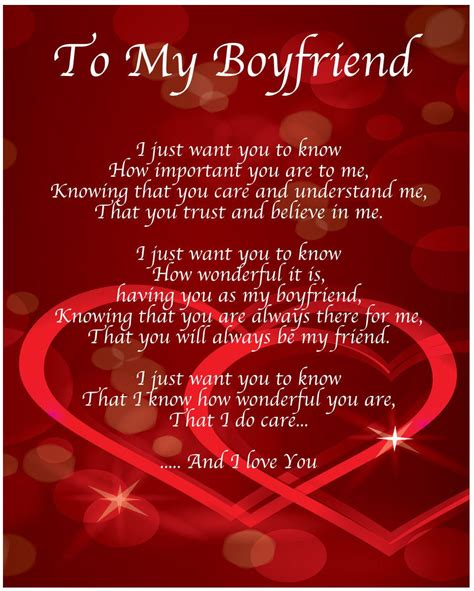 To My Boyfriend Poem Birthday Christmas Valentines Day ...