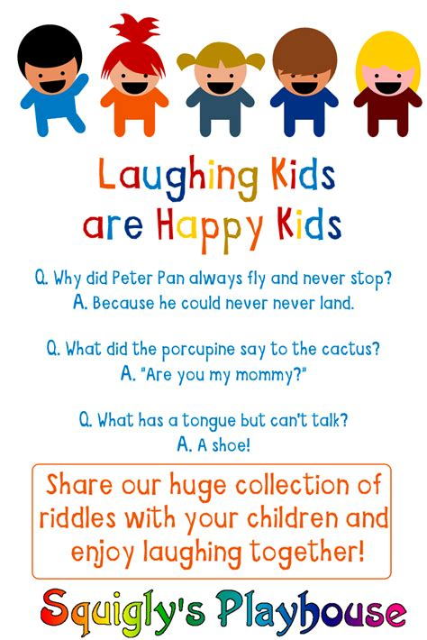 Funny Riddles For Kids At Squigly's Playhouse
