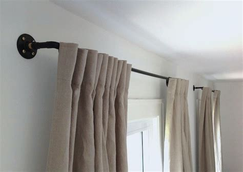 how to dress corner windows drapery stylish diy curtain rods ideas on budget