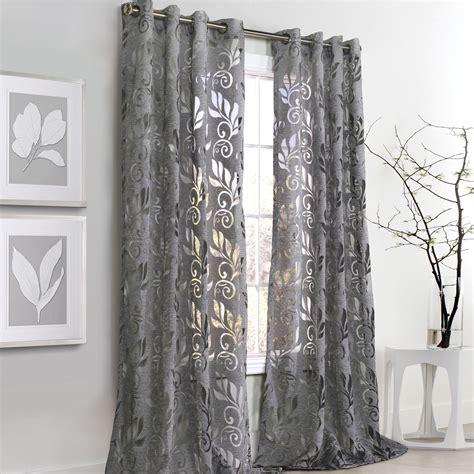 amelia gray burnout grommet curtain panels