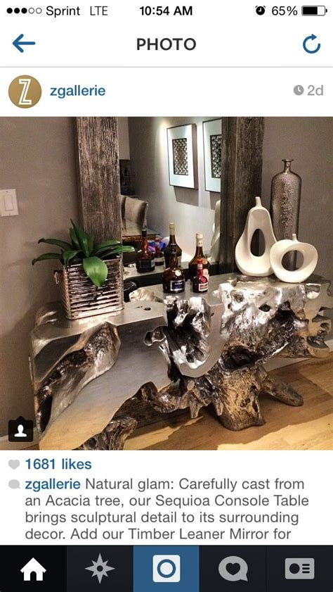 gallerie sequoia console tree table home pinterest