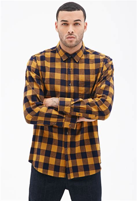 Mens Yellow Check Shirt - South Park T Shirts