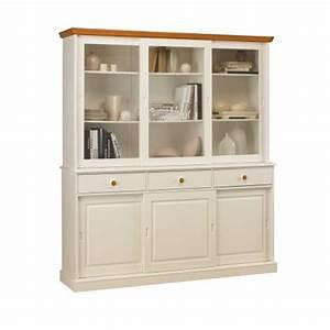 Vaisselier Blanc Et Bois : vaisselier biblioth que blanc de style anglais 40846 ~ Nature-et-papiers.com Idées de Décoration