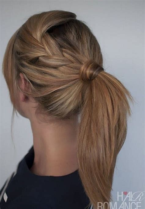 simple  easy hairstyles  straight hair pretty