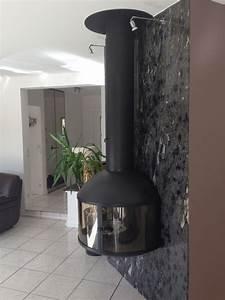 Habillage Mur Derriere Poele A Bois : granit poli flamm bross ou toucher cuir pour la ~ Mglfilm.com Idées de Décoration