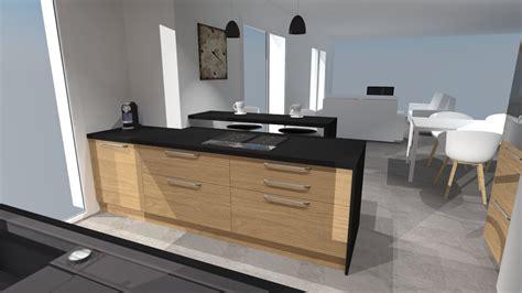 cuisine noir emejing cuisine beige et noir gallery design trends 2017