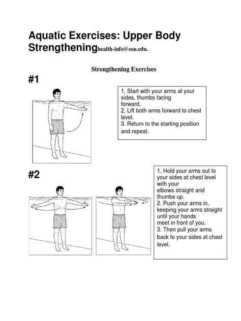 Aquatic Exercises Upper Body Strengthening Arm Elbow