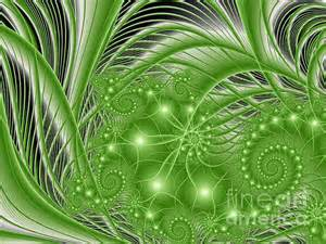Green Abstract Nature Art