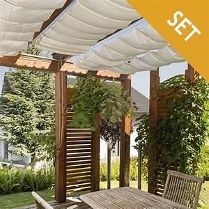 seilspannmarkise sonnensegel montageset fur pergola With garten planen mit transparente versiegelung für balkon und terrasse