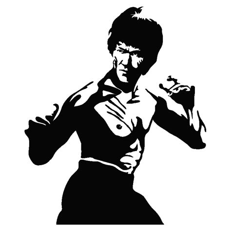stickers muraux cinema sticker avec bruce lee dragon ambiance stickercom