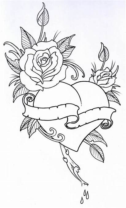 Outline Rose Drawing Outlines Clipartion Tattoo Clipart