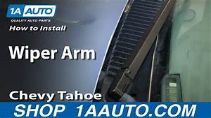 How To Replace Windshield Wiper Arm 95-00 Chevy Tahoe
