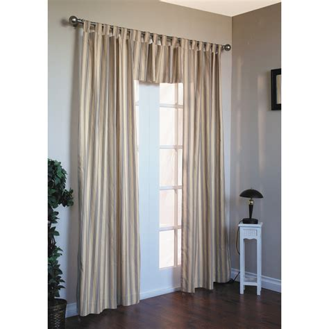 thermalogic weathermate stripe curtains 80x63 quot tab top