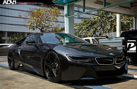 Blacked Out Bmw I8 On Adv.1 Wheels