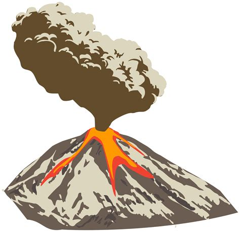 Volcano Clip Lava Clipart Volcanic Eruption Pencil And In Color Lava