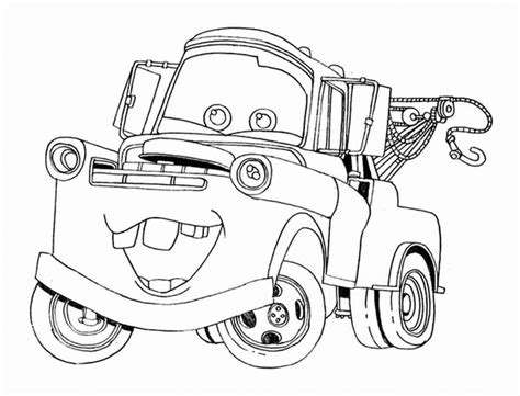 printable tow mater coloring pages page fancy mader