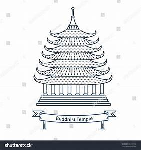Buddhist Temple, Monastery. Buddhism Symbol. Pagoda House ...