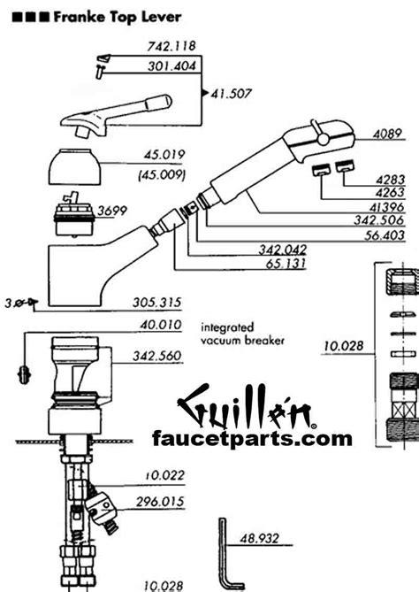 hansgrohe kitchen faucet replacement parts franke faucet parts