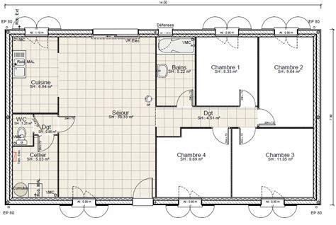 plan de maison à étage 4 chambres cuisine ginkgo biloba fort mg plan maison 4 chambres