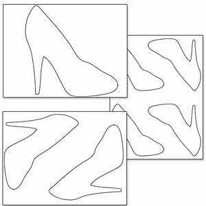 Printable High Heel Shoe Template  U2014 Printable Treats Com