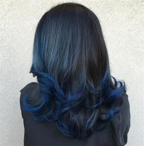 Black Hair With Brown Tips by Blue Black Hair Tips And Styles Blue Hair Dye Styles