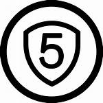 Icon Years Warranty Five Svg Onlinewebfonts