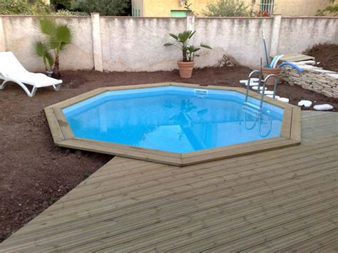 piscine bois octogonale semi enterr 233 e