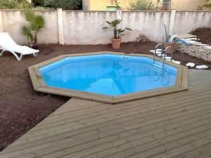 Piscine Semi Enterré Bois : piscine bois octogonale semi enterr e ~ Premium-room.com Idées de Décoration