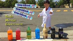 Soda And Mentos Experiment While Learning Colors Youtube