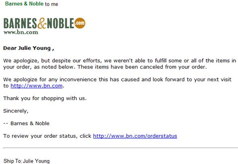 barnes and noble cancel order bn how bad copy and poor email communication can ruin