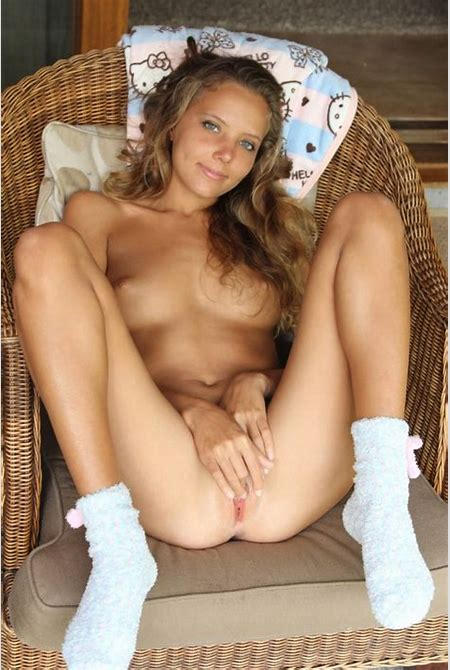 Young russian babe in very sexy socks on the veranda   Russian Sexy Girls