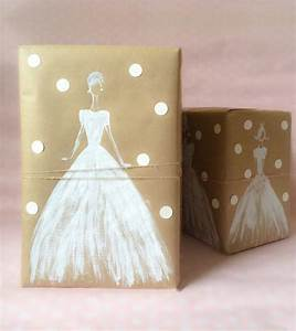 white ink and kraft paper kraft mint wrap it up With wedding gift wrapping ideas