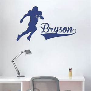 football player and name wall art decal With football wall decals