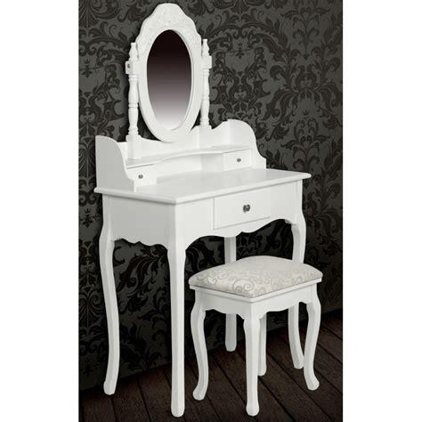 bureau coiffeuse pas cher meuble coiffeuse avec miroir pas cher achat table de