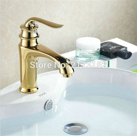 Gold Plated Bathroom Fixtures by Luxury Gold Plated Bathroom Faucet Royal Single Handle