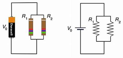 Resistors Parallel Example Resistor Diagram Battery Across
