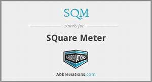 What, Is, The, Abbreviation, For, Square, Meter