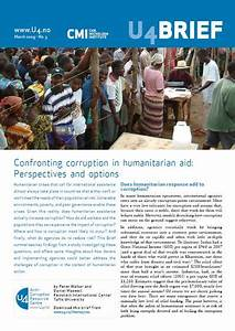 Confronting corruption in humanitarian aid: Perspectives ...
