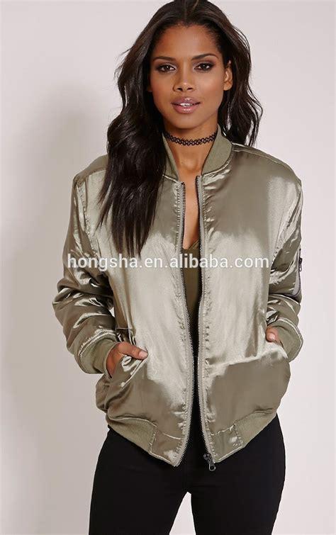 dress by fashion import 17 fashion kahki satin bomber jacket cool winter jacket