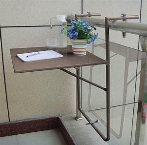 Table De Balcon : table de balcon suspendue couleur taupe avec plateau rabattable hauteur r glable oogarden france ~ Teatrodelosmanantiales.com Idées de Décoration