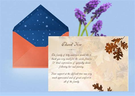 It doesn't take long to add your personal touch. Funeral Thank You Card | Funeral Thank You Card Template