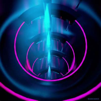 Giphy Loop 3d Cyber Trippy Neon Gifs
