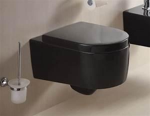 Wc Sitz Schwarz : wandh ngende wc mit soft close wc sitz aus duroplast schwarz str2044 18 ~ Yasmunasinghe.com Haus und Dekorationen