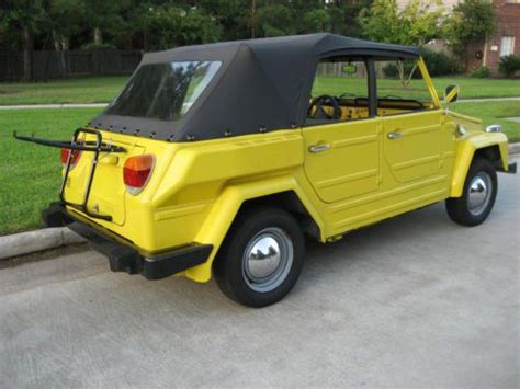 volkswagen thing yellow sell used 1974 yellow volkswagen vw thing excellent