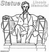 Lincoln Memorial Coloring Statue Drawing Pages Abraham Getdrawings sketch template