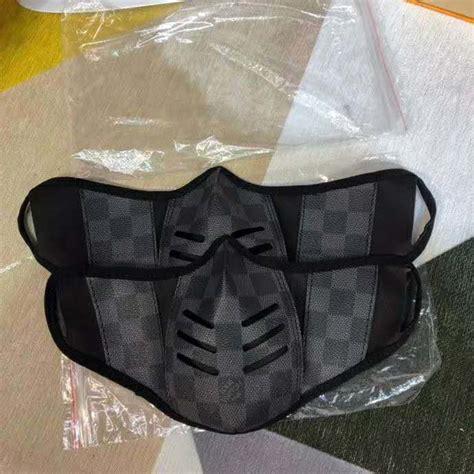 louis vuitton lv unisex facial mask  monogram canvas lulux