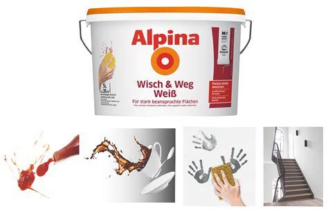 Wandfarbe Zum Abwischen by Alpina Wandfarbe Weiss 10l Scottgrissom